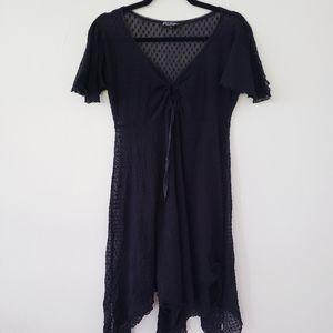 Vintage Betsey Sheer Swiss Dot Dress sz.L